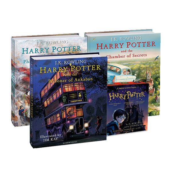 [가격인하] RL 5.5~6.7 : Harry Potter 일러스트 에디션 3종 + 1-3권 CD 세트 (Hardcover+CD/영국판)