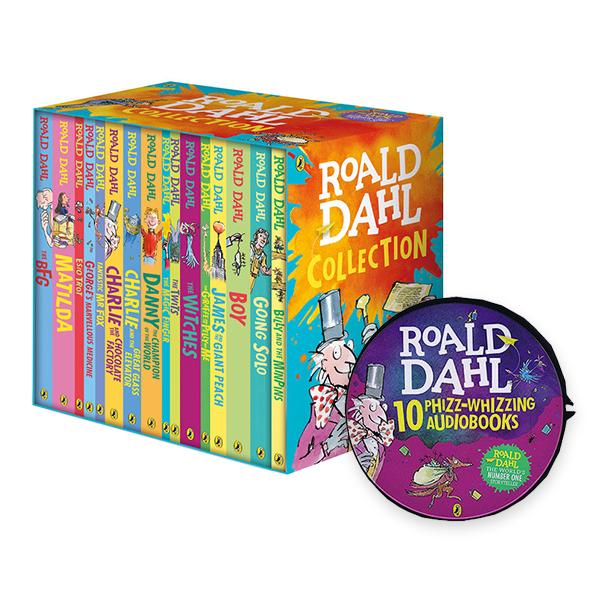 [특가세트] RL 3.1-6.1 : Roald Dahl : 로알드 달 16종 박스 세트 & Audio CD 10종 세트 (Paperback, 16권, Audio CD, 29장, 영국판)