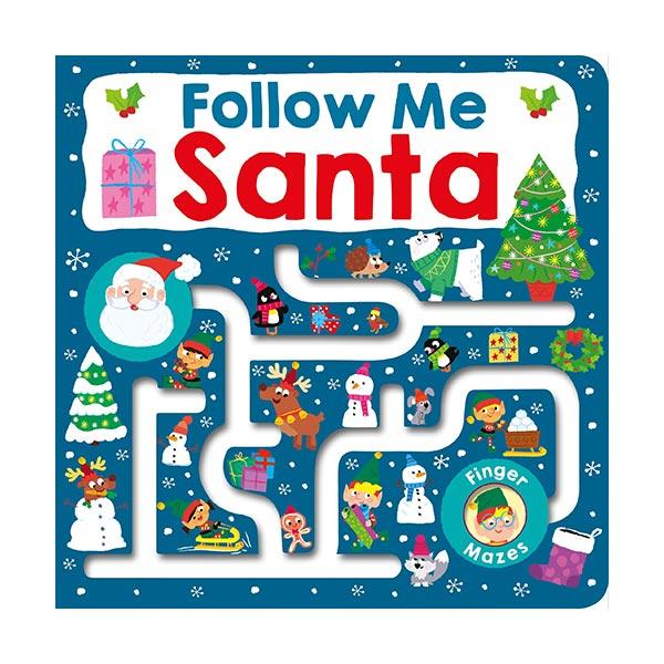 Follow Me Santa : Maze Book (Board book)