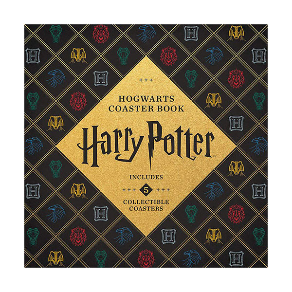 Harry Potter Hogwarts Coaster Book : Includes 5 Collectible Coasters! (Board book)