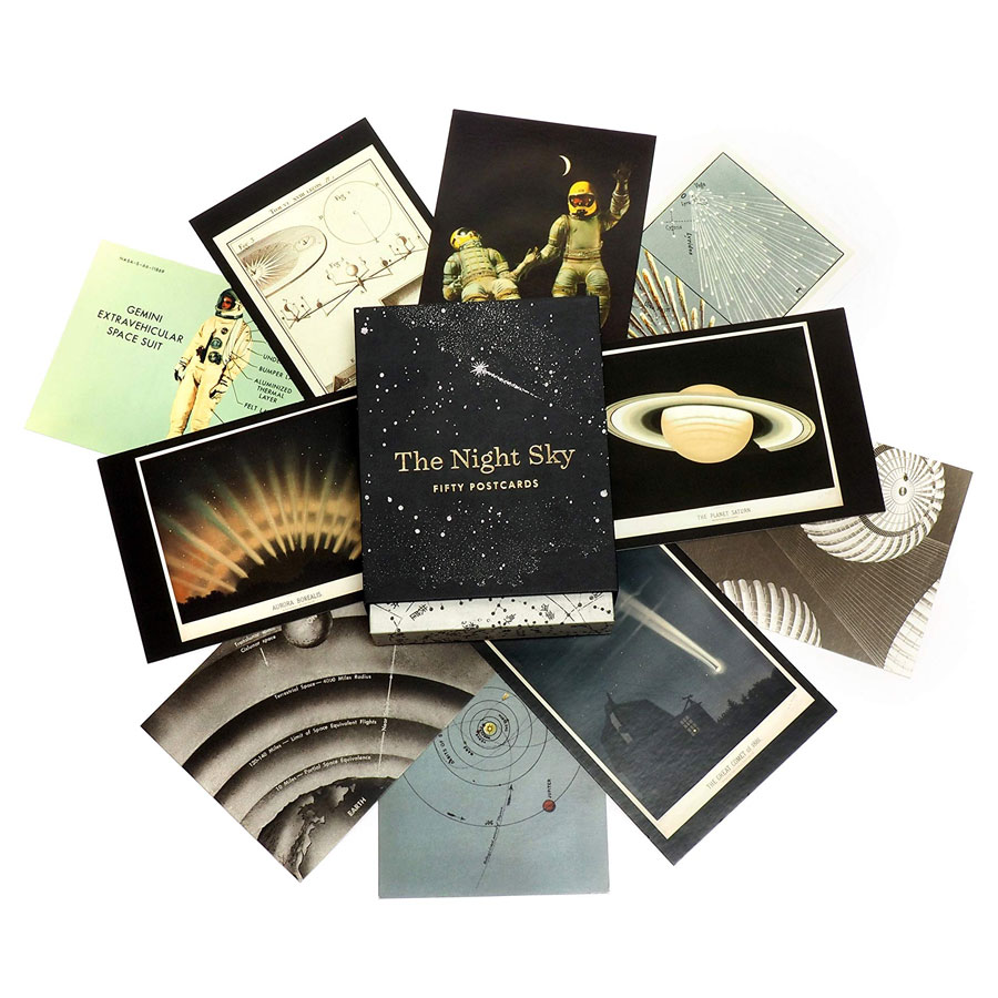 The Night Sky: 50 Postcards (Card Book)